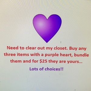 COPY - 💜Buy three items with Purple Hearts for $25